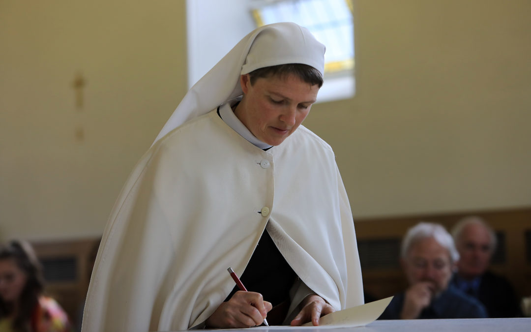 Solemn Monastic Profession at Glencairn Abbey of Sr Angela Finegan OCSO